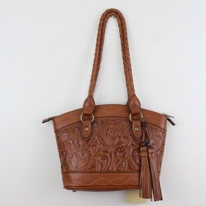 Patricia Nash Floral Embossed Zorita Shoulder Bag